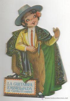 CUENTO LA GUITARRA EMBRUJADA DE CURRITO EL CANTAOR JUAN FERRANDIZ ED. VILCAR 1ª ED FLAMENCO MUSICA - Foto 1