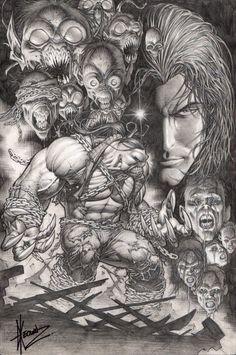 Original Comic Art:Cover, Dale Keown Darkness / Pitt #1 Cover (2009) #1 Cover OriginalArt () Image #1