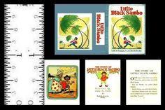 1:12 MINIATURE BOOK LITTLE BLACK SAMBO