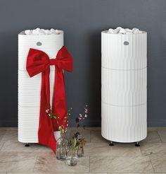 New sauna heaters, Huurre ja Riite in white. Steam Sauna, Finland, Stove, Christmas, Feelings, Design, Bathroom, Country, Architecture