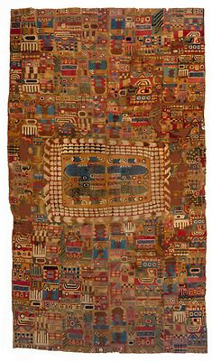 textile-museum: Tunic, Peru, Huari Style, ca. 850-950. L: 210.00 cm, W: 59.00 cm. TM 91.351. Acquired by George Hewitt Myers in 1941.