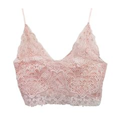 Vintage Lace Cropped Bustier - Available in Pink, White and Black