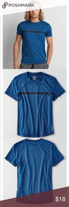 AEO 360 EXTREME FLEX T-SHIRT NWT. Heathered blue. See last photo for item details! American Eagle Outfitters Shirts Tees - Short Sleeve