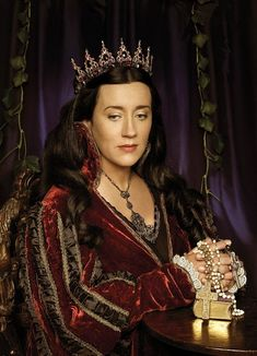 on of my heroines Catherine of Aragon...the face of faith in the midst of her storm!!