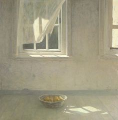 huariqueje:  Interior with Still life and Window  -  Jan van der Kooi Dutch painter, Groningen b.1943-