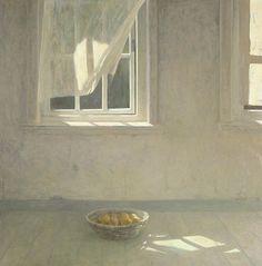 huariqueje:  Interior with Still life and Window - Jan van der Kooi Dutch painter, Groningen b.1943-