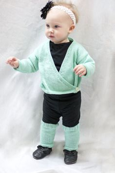Baby Ballet Wrap and Legwarmers- free pattern
