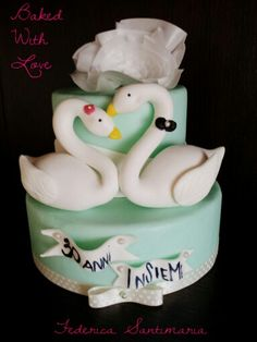 Swans 30th wedding anniversary #BakedWithLove by Federica Santimaria