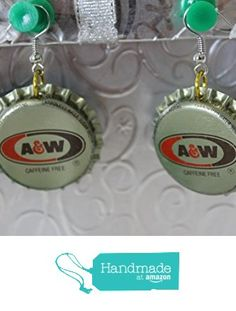 A and W Rootbeer Upcycled Bottlecap Earrings from Southern Women Crafts https://www.amazon.com/dp/B01IM5AWGG/ref=hnd_sw_r_pi_dp_Tz6IxbTZ9CNVH #handmadeatamazon