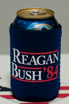 Reagan Bush 84 Koozie