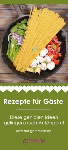 One Pot Pasta, Pizza-Schnecken . (One Pot Pasta Recipes) Quick Recipes, Pasta Recipes, One Pot Meals, Easy Meals, Grilling Recipes, Cooking Recipes, One Pot Pasta, Meal Replacement Smoothies, Easy Cooking