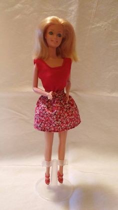 Flirty Red Skirt Outfit For Barbie.