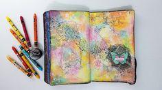 Neocolor II + Texture + Magicals - Mixed Media Art Journal