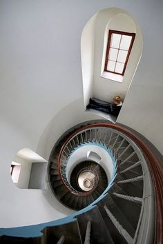 Interior of a lighthouse in Denmark// nice photograph //  phare de Lyngvig sur la cote Ouest du Danemark.