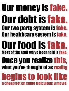 Fake...time to make a change.