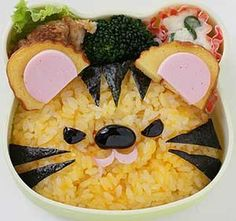 Cute kitty food art food food art food art images food art photos food art pictures food art lunch foo art for kids lunch food art food art kids ideas Cute Food, Good Food, Yummy Food, Japanese Food Art, Japanese Lunch, Amazing Food Art, Creative Food Art, Food Art For Kids, Bento Recipes