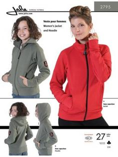 Jalie 2795 - Jacket and Hoodie Pattern Cover