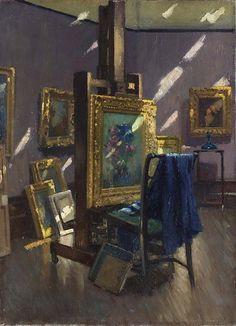 Patrick William Adam (Scottish, 1854-1929), Studio Gleams. Oil on canvas.