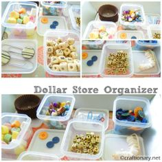 Dollar store organizer for small things