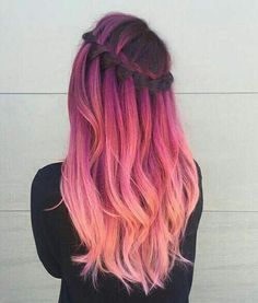hair, pink, and hairstyle εικόνα