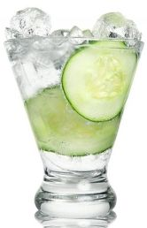 @Jourdan Paul  For the green party!!   Mint-Cucumber Cocktail 3 oz. gin 4 oz. tonic water 1/2 oz. fresh lime juice 3 mint sprigs 2 slices cucumber  Muddle 1 slice cucumber and 2 sprigs mint in highball glass; then fill with ice.  Add 3 oz. gin,4 oz. tonic and1/2 oz. lime juice. Stir and garnish with a cucumber wheel.