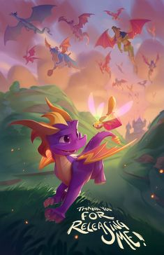 Dragon City, Video Game Posters, Video Game Art, Spyro And Cynder, Fiery Dragon, Spyro The Dragon, Childhood Games, Dragon Games, Wings Of Fire