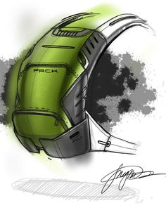 sketch a day 127 ruck sack