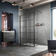 Buy Hudson Reed Framed Wet Room Swing Panel with Support Bar Wide - Glass today. Hudson Reed Part No: Free UK delivery in approx 3 working days. Wet Room Bathroom, Simple Bathroom, Bathroom Interior, Modern Bathroom, Japanese Bathroom, Bathroom Shop, Bathroom Canvas, Stone Bathroom, Family Bathroom