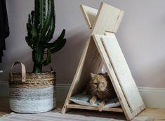 DIY: tipi en krabpaal voor je kat