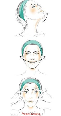 The facial gym, it works!- How to give shape to his face? By simply working his muscles! Here are 4 exercises to tone it up - Face Lift Exercises, Massage Machine, Natural Beauty Recipes, Squat Workout, Face Yoga, Massage Benefits, Makeup Revolution, Beauty Routines, Beauty Hacks