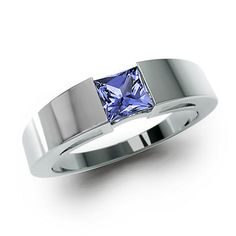 White Gold Iolite Ring - Gemify Nile Valley Classic Ring