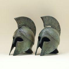 Greek Bronze Helmet Greek Key Crest Helmet Ancient от GreekMythos
