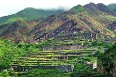 Taiwan buildings hills hillside mountains