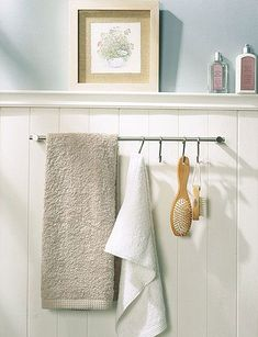 paneling and towel bar placement.