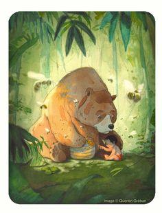 "Quentin Gréban ""The Jungle Book"". Illustration Jungle, Watercolor Illustration, Beau Film, Animation, Animated Cartoons, Tarzan, Amazing Art, Book Art, Concept Art"