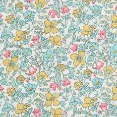 Liberty of London Tana Lawn: Meadow (L) – DuckaDilly Liberty Of London Fabric, Liberty Fabric, Small Flowers, Floral Flowers, Textures Patterns, Print Patterns, Liberty Quilt, Lawn Fabric, Cotton Fabric