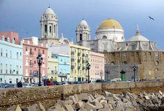 Cádiz  Vista de la Catedral, Spain