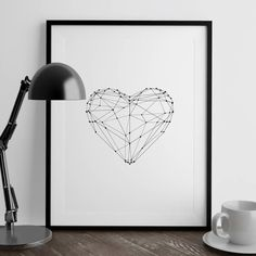 Polygon Love Heart http://www.notonthehighstreet.com/themotivatedtype/product/love-heart-illustrated-polygon-art-print @notonthehighst #notonthehighstreet