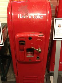vintage coke machine would be cool in a game room or bar