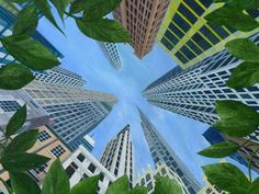 Check out 'Leafy Sky' by Samuel Leopold on TurningArt