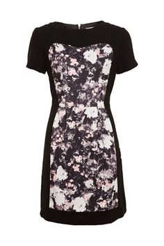 Panel Crepe Print Dress #Watercolour #Dress