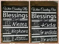 counting our Blessings Grandchildren vinyl only by saywithdesign on Etsy, $8.00 grandparent gift. Sibling gift