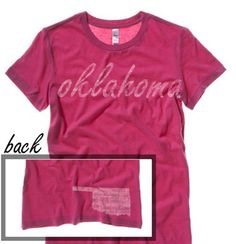 #oklahoma #tshirt  http://washedtee.com/shop/womens/t-shirts-tanks/washed-favorite-t-shirt/