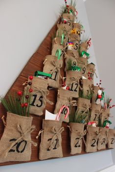 Ana White | Build a DIY Tree Advent Calendar - Feature by Rogue Engineer | Free and Easy DIY Project and Furniture Plans