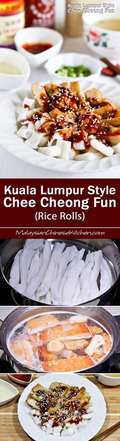 Easy to put together Kuala Lumpur Style Chee Cheong Fun using prepackaged ingredients. So delicious and it takes only 20 minutes to prepare. | MalaysianChineseKitchen.com