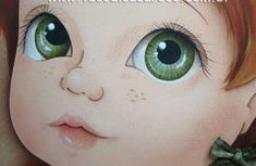 Nancy Hagel's media content and analytics Eye Painting, One Stroke Painting, Fabric Painting, Doll Face Paint, Art Visage, Cartoon Eyes, Fabric Toys, Doll Eyes, Pretty Dolls