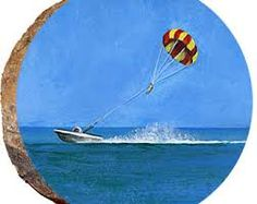 Image result for mixed media paintings with parasailing