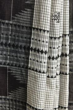 White Checkered Koraput Saree