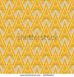 1930s geometric art deco pattern in mustard yellow colors, seamless vector…