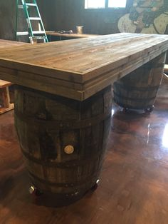 This Authentic Bourbon Barrel Table Is A Perfect For Your Kitchen, Bar Or  Wine Cellar